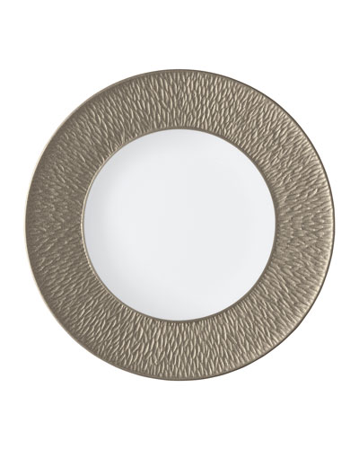 Mineral Irise Warm Gray Buffet Plate