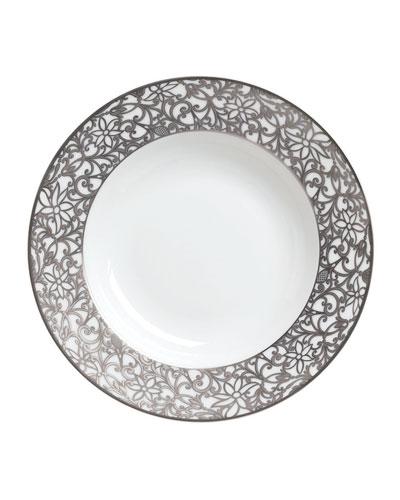 Salamanque Platinum French Rim Soup Plate