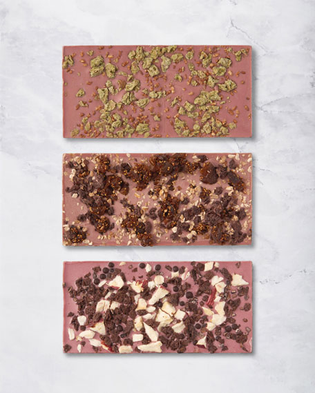 Set of New York, Paris and Tokyo Ruby Cacao Bars