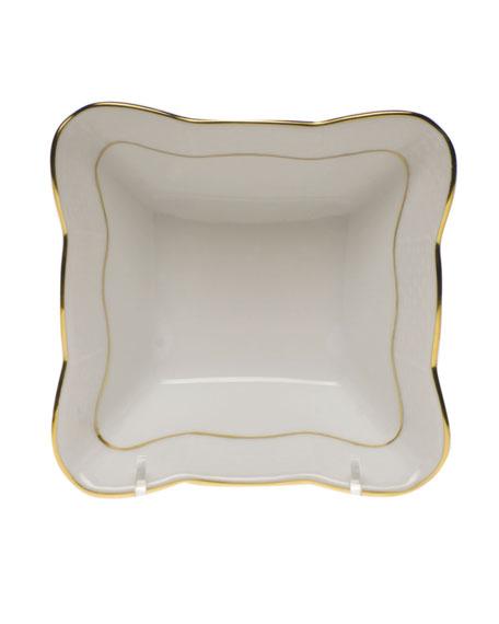 Golden Edge Small Square Dish