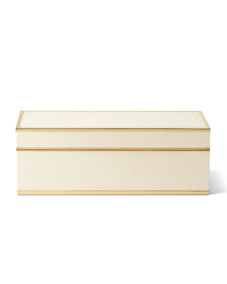Shagreen JENGA Set, Cream