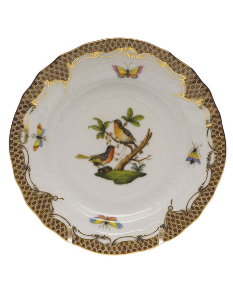 Rothschild Bird Brown Motif 08 Bread & Butter Plate