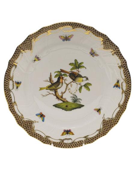 Rothschild Bird Brown Motif 11 Dinner Plate