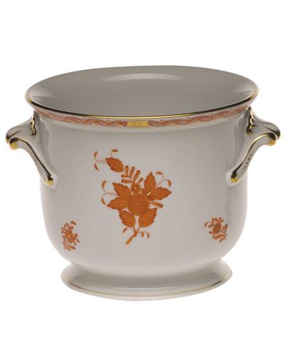 Chinese Boutique Rust Medium Cache Pot