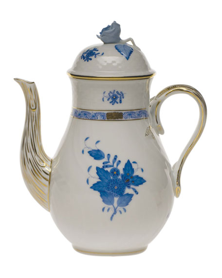 Chinese Bouquet Blue Coffee Pot