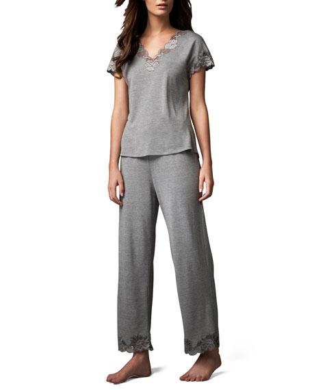 Zen Floral-Trim Pajamas