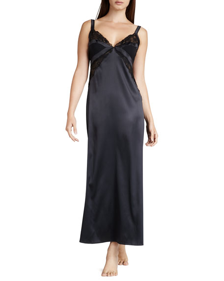 Croisette Long Charmeuse Gown