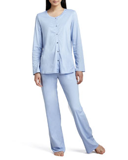 Tonight Button-Up Pajamas, Blue Bell
