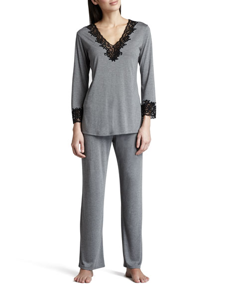 Lhasa Jersey Pajamas, Heather Gray