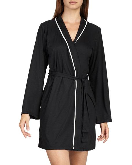 Amore Jersey Robe, Black