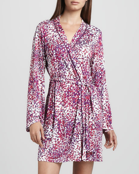 Amore Butterfly-Print Robe