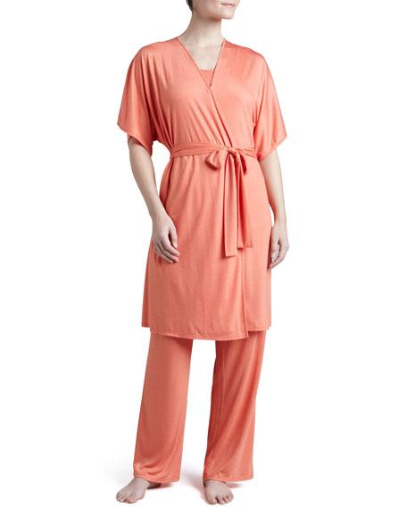 Shangri-La Jersey Wrap Robe, Nectar