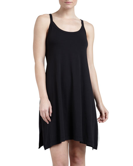 Whisper Cotton Gown, Black, Short