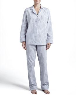 Pinstripe Classic Pajamas, Gray