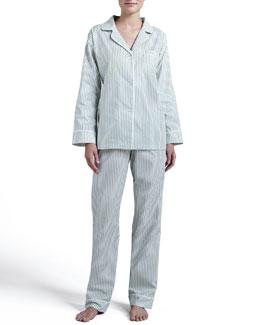 Pinstripe Classic Pajamas, Green
