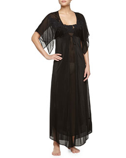 Ninfea Long Robe, Black