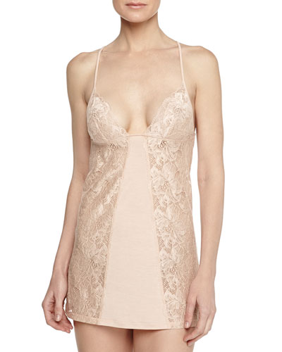 Margherita Lace Slip, Pink