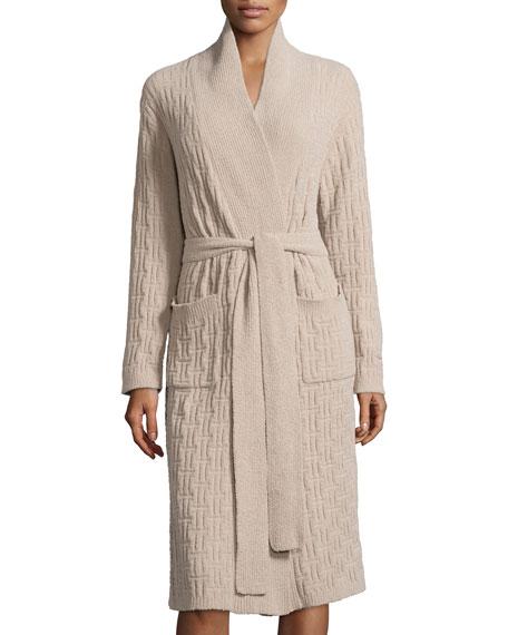 Natori Truffle Knit Chenille Wrap Robe Oatmeal