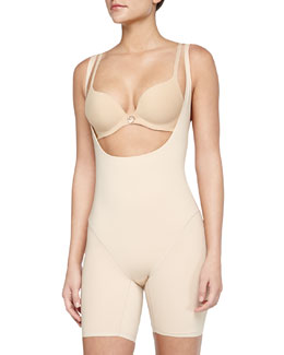 Smooth Complexion Open-Bust Mid-Thigh Shaper
