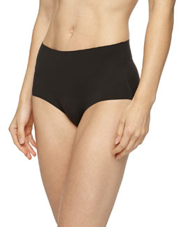 Undie-Tectable® High-Waist Bikini Briefs, Black