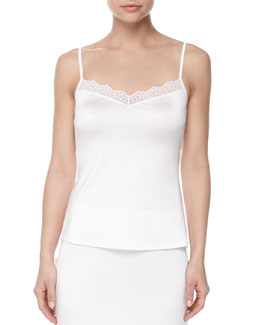 Capri Lace-Trimmed Camisole, Off-White