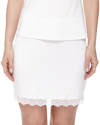 Capri Lace-Trimmed Half Slip, Off White