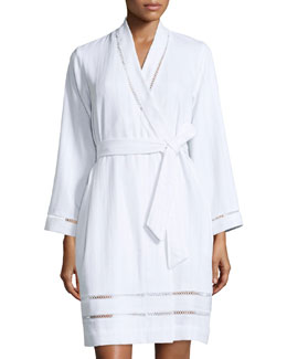 Luxe Spa Short Robe, White