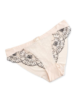 Dahlia Lace-Trimmed Bikini Brief, Blush