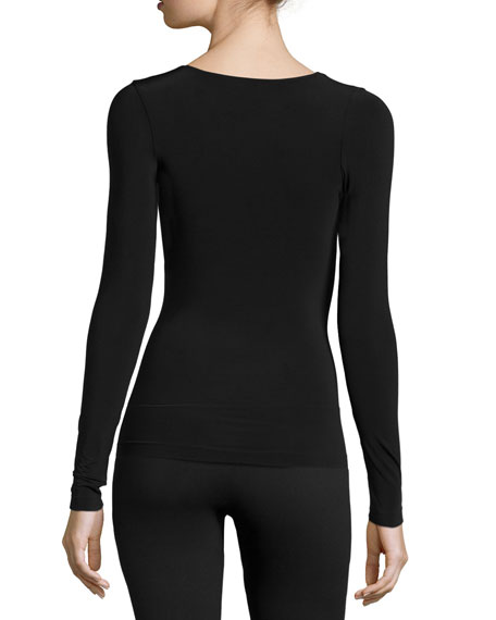 Buenos Aires Long-Sleeve Pullover Top, Black