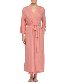 Shangri-La Jersey Long Robe, Red-Orange
