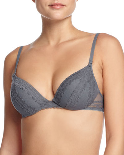 B8 Convertible Push-Up Bra, Gray