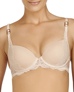 Smooth & Lace Contour Bra, Night Sky