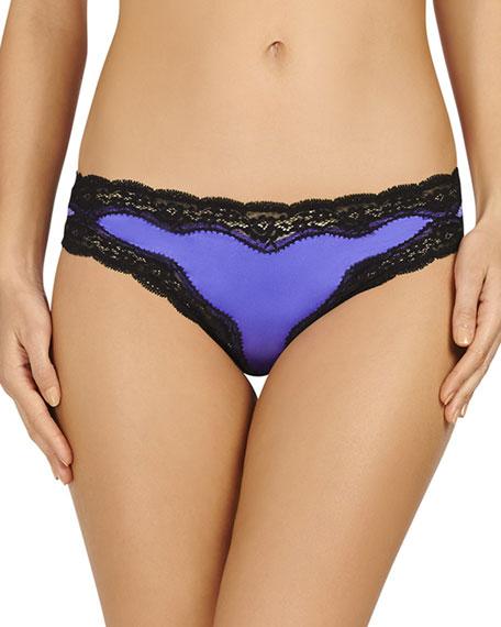 Clara Whispering Bikini Briefs, Bluebell/Black