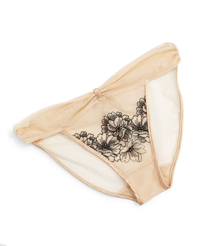 Fragile Drama Mesh Bikini Briefs, Neutral
