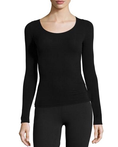Ballet Body Long-Sleeve Layering Tee, Black
