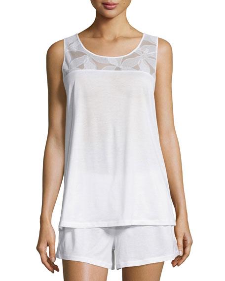 Yolanda Shorty Pajama Set, White
