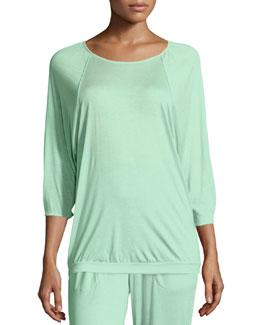 Susana 3/4-Sleeve Lounge Top, Jade
