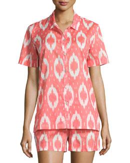 Batik Printed Shorty Pajamas