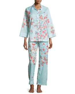Fiore Printed Cotton Pajama Set