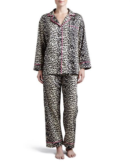 Bedhead Leopard-Print Sateen Pajamas, Plus Size