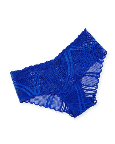 Minoa Low-Rise Lace Hotpants, Ultra Blue