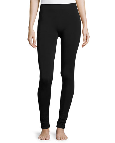 Stretch-Knit Leggings, Black