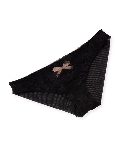 Noeuds Et Merveilles Bikini Briefs, Black/Natural