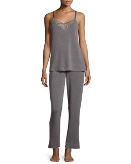 Signature Lace-Inset Pajama Set