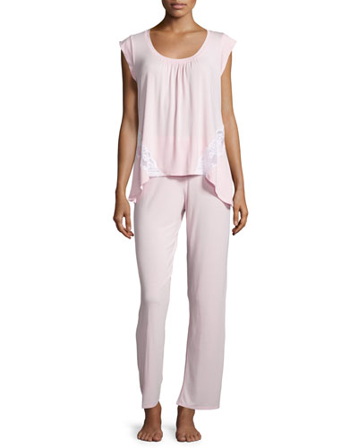 Sun-Striped Pajama Set
