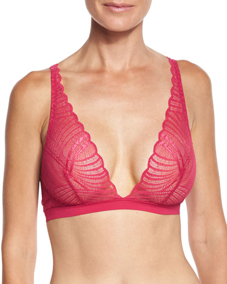 Minoa Basic Soft Bra, Claret Red
