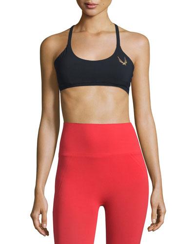 Core Performance Cross-Back Sports Bra, Black