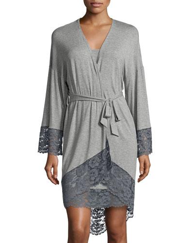 Nouveau Kimono Robe, Heather Gray