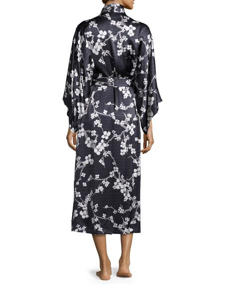 3d509e895e Natori Silk Cherry Blossom Long Robe