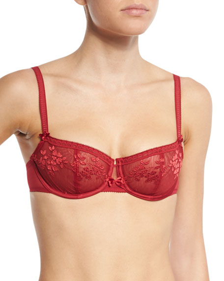 Intuition Underwire Demi Bra, Candy Apple